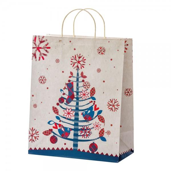"""Papier Tragetaschen """"Christmas Birds"""" 26,4x13,6x32,7cm"""