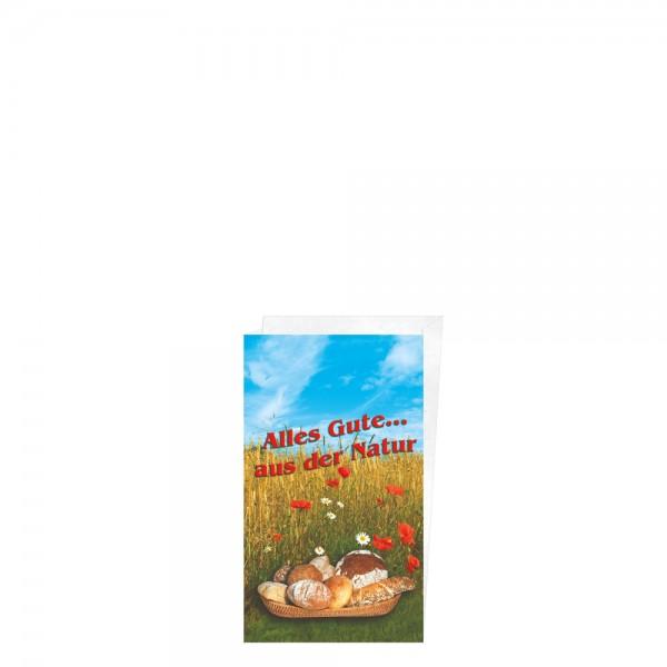 "Faltenbeutel ""Alles Gute aus der Natur"" 14+6x24cm Nr.1"