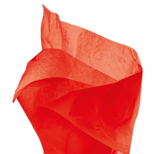 Seidenpapier Bogen 50x76 cm rot