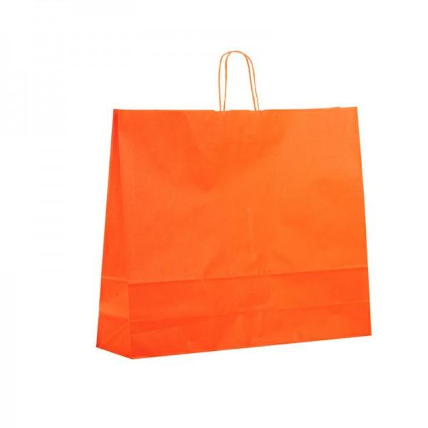 Papier Tragetaschen 54x14x45cm orange