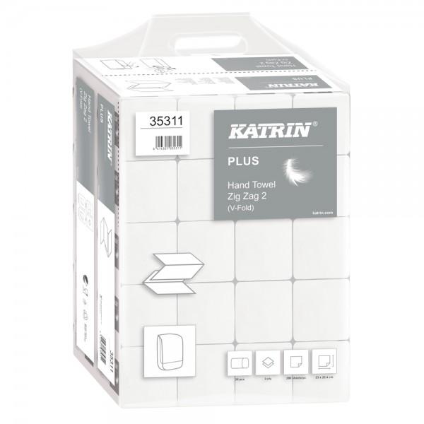 Katrin Plus Handtuch ZZ Falz 2-lagig hochweiß