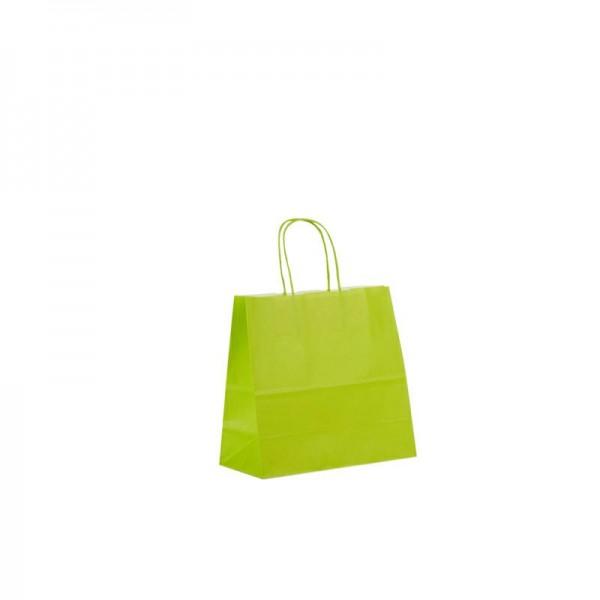 Papier Tragetaschen 25x11x24cm hellgrün