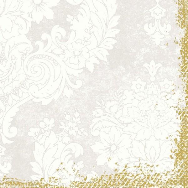 DUNI Klassik Serviette 40x40 cm 1/4F.Royal White