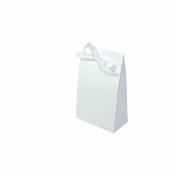 Geschenktasche weiß 140x80x230+55mm