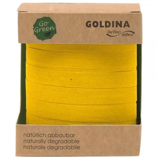 Ringelband biologisch abbaubar10mm/100Meter Gelb