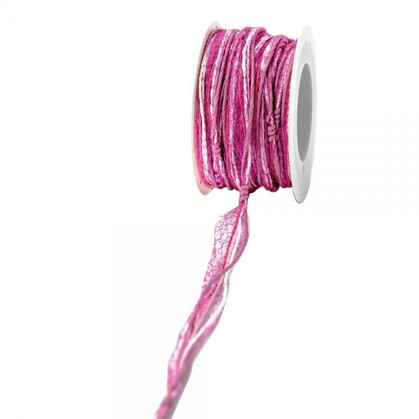 """Papierkordel """"Tüll"""" 15mm 12Meter pink/rosa"""