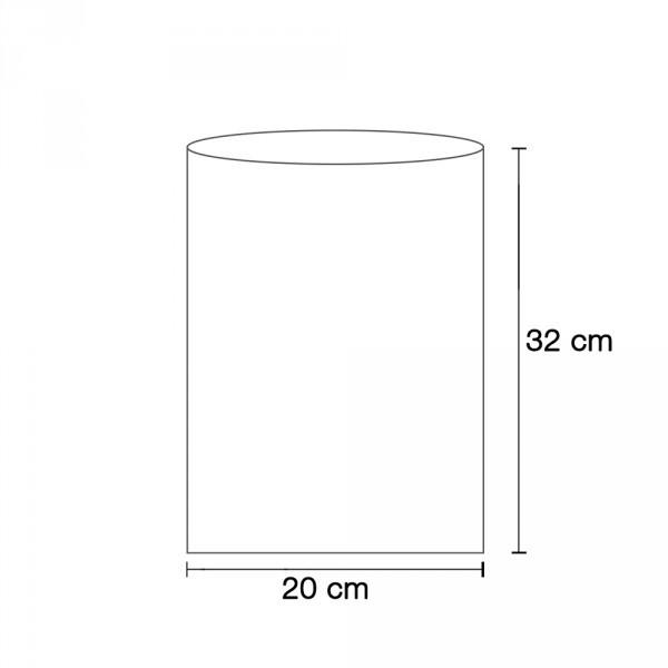 Flachbeutel weiß 20x32 cm
