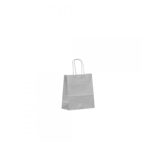 Papier Tragetaschen 18x08x25cm grau