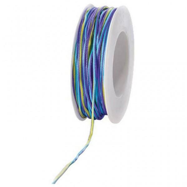 Stoffkordel m. Draht lila/gelb/hellblau