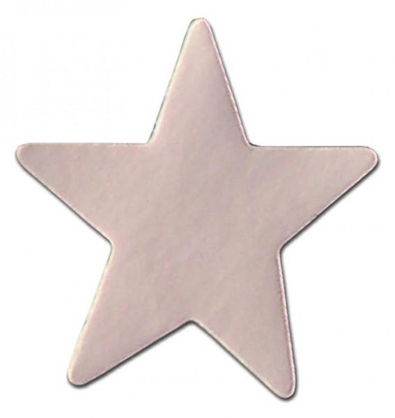 Weihnachts-Etikett Stern silber