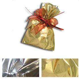 Flachbeutel Folie 8x15cm gold metallic