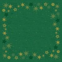 DUNI Mitteldecke 84x84cm Star Stories Green
