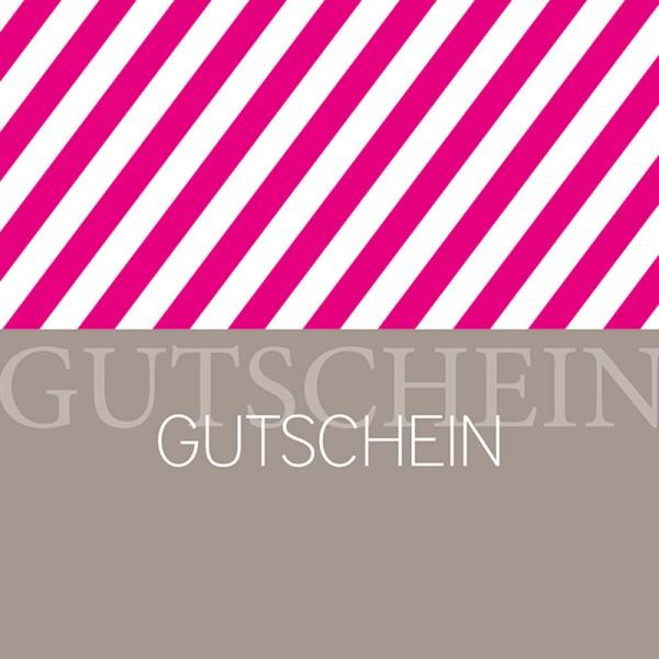 Gutschein-Klappkarte Stripes pink