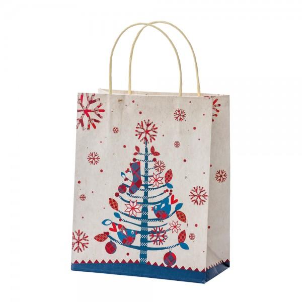 """Papier Tragetaschen """"Christmas Birds"""" 18x10x22,7cm"""