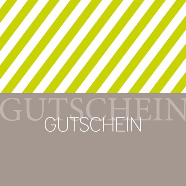 Gutschein-Klappkarte Stripes kiwi