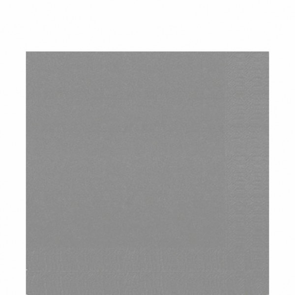 DUNI Zelltuch Serviette 33x33 cm 1/4F. granit grey