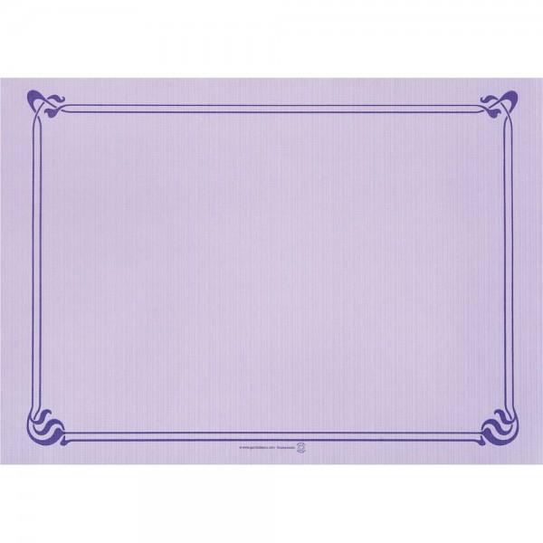 Papier Tischset uni 31x43cm Lavendel