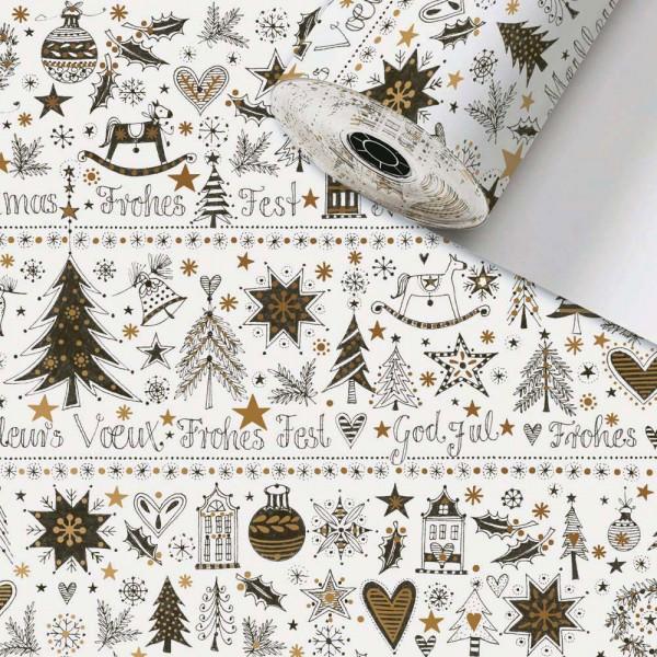 Geschenkpapier Rolle 50cm 50m Sanne Weihnachten