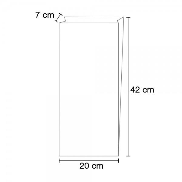 Faltenbeutel N 500 = 20x7x42cm