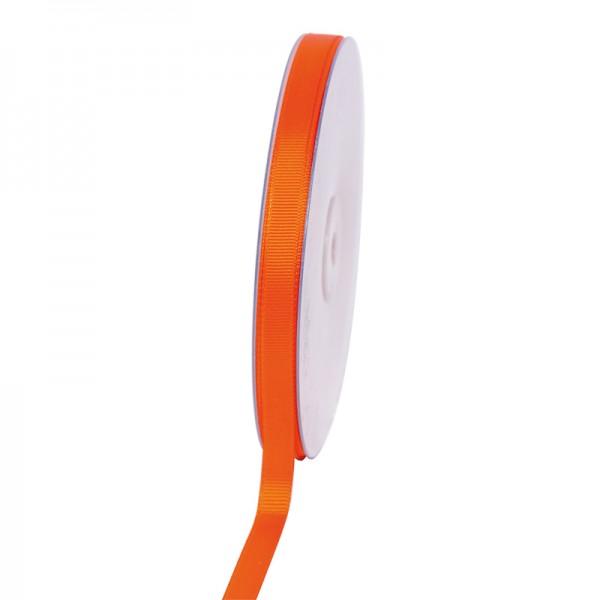 Geschenkband Grosgrain 9 mm/50Meter orange