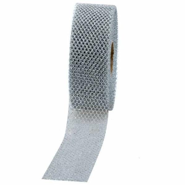 Geschenkband Siena 40mm 20Meter silber