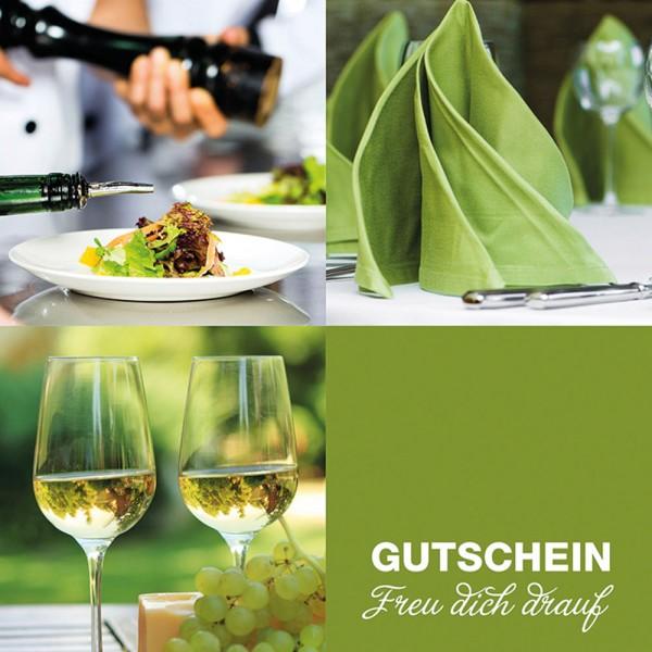 Gutschein-Klappkarte Lunch & Dinner