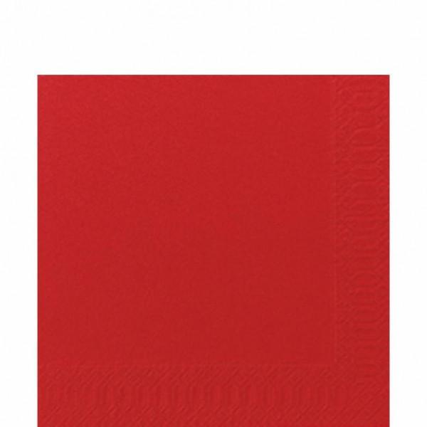 DUNI Zelltuch Serviette 33x33 cm 1/4F. rot