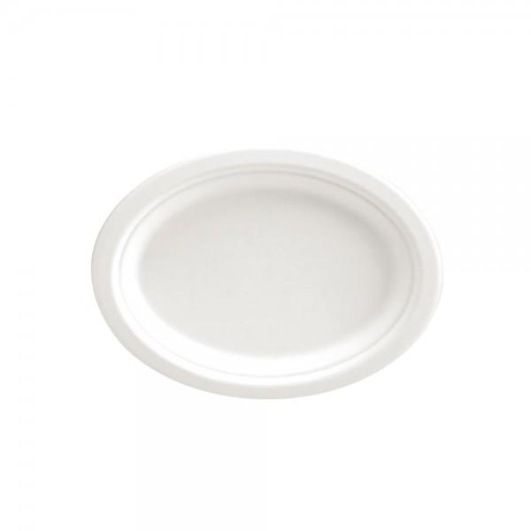Teller Oval weiß 26,5 x 20 cm